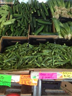 A visit to #Asian #market. Love #okra