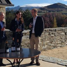 """""""The Duke and Duchess sample some of New Zealand's famous wine #royalvisitnz"""" April 13, 2014"""