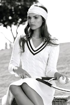 """In Tennis Culture its traditional to wear white when playing- i.e. Tennis Whites. However some people just like the look of it and don't actually play the sport. So designer Ralph Lauren made a tennis white look that people could buy to look """"tennis chic"""""""