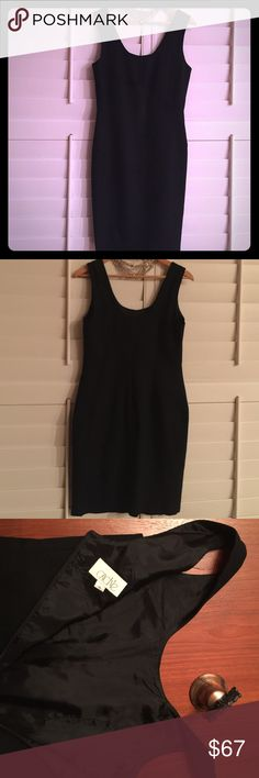 """A Caché Versatile LBD Wardrobe Must Have. A Caché LBD that is a very nice 💯% crêpe wool, fully lined wardrobe top ten staple. A size 10, dry clean only. Approximate measurements are: bust 35-36"""",waist30-31"""", hips36-37"""" and length 37"""". You will be able to wear this to your interview,to work with a jacket, after work with a sheer blouse,denim and with nothing at all. Any type of accessories/ shoes that you want. See, that is why you need this dress! 🌺 Cache Dresses Midi"""