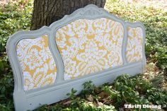 Spruce up an old headboard with new fabric like this one from DIY Thrifted.
