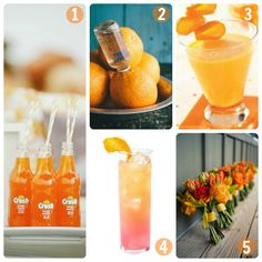 Wedding Specialty Drinks: Orange Cocktails