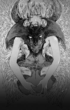 Evil Anime, Anime Manga, Anime Art, Devilman Crybaby, Akira, Gold Drawing, Character Art, Character Design, Dark And Twisty