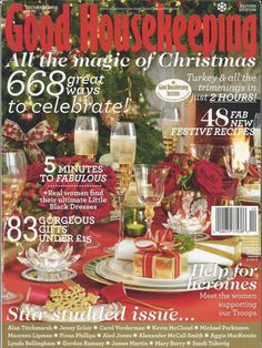 Good Housekeeping magazine Christmas Holiday decor Festive recipes Gift ideas