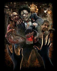 Texas Chainsaw Massacre 2 Art