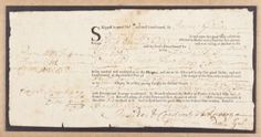 """BRINGING RUM TO PURITAN SALEM Partly-printed D.S., 1p. oblong 8vo., Barbados, Apr. 28, 1731, a bill of lading issued the vessel """"Phenix"""" for a cargo of sugar, cotton, and four hogsheads of rum, at the time anchored at the Bay of Carlisle (Antigua, now a resort), and bound for """"Salem in New England"""". Bill Of Lading, Carlisle, Barbados, New England, Rum, Auction, Bring It On, Sugar, Printed"""