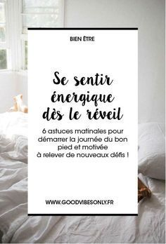 6 ASTUCES MATINALES POUR DÉMARRER LA JOURNÉE DU BON PIED Happy Mom, Happy Life, Are You Happy, Positive Mind, Positive Attitude, Dont Drink And Drive, Stress, Miracle Morning, Good Habits
