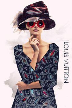 Photography mixed with fashion illustration by Julia Slavinska, via Behance