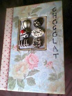 Bushbabies craftworks:'Chocolat' journal with quilled chocolates