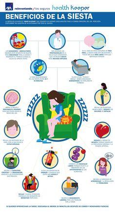 Beneficios de la Siesta #infografía