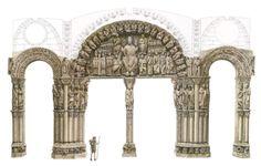 Pórtico de la Gloria de la catedral de Santiago de Compostela (Galicia).