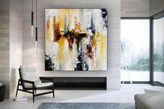 Original Acrylic Abstract Painting Oversized Wall Art image 3 Modern Wall Decor, Modern Art, Oversized Wall Art, Colorful Artwork, Bathroom Wall Art, Extra Large Wall Art, Office Wall Art, Large Painting, Texture Art