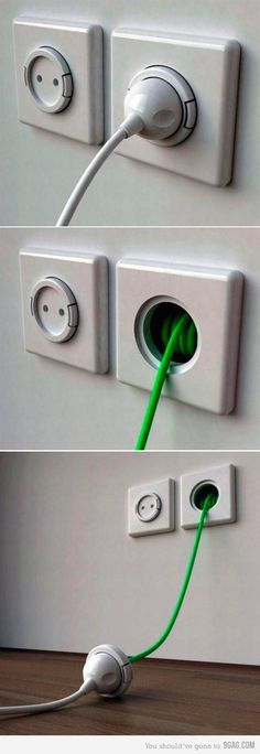 clever - in built extension cord!