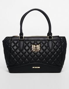 Love Moschino Quilted Hand Held Bag at asos.com 9a4ca0e8852ee