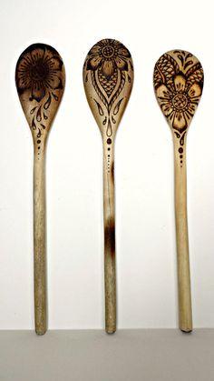 cucharones pirograbados
