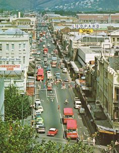 A busy day on Colombo Street, Christchurch, New Zealand Travel Around The World, Around The Worlds, Christchurch New Zealand, Long White Cloud, South Island, Aesthetic Photo, You're Awesome, Public Transport, What Is Like