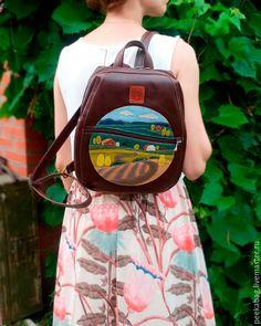 "Leather Backpack | Кожаный рюкзак ""Пейзаж"" — работа дня на Ярмарке Мастеров"
