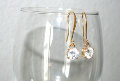 OHRRINGE FUNKEL gold oder silber Ohrhänger von BLISS - dein stück vom glück auf DaWanda.com
