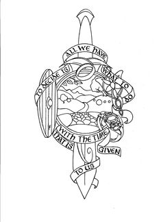 The Lord Of The Rings Tattoo Sleeve - Heartpiece by DragonCatFaerie.deviantart.com on @DeviantArt