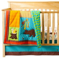 We are planning to either not find out the sex or keep it to ourselves until the birth of our baby, when it finally happens. How to deal with baby decor in that situation? Bedding like this!!! ZUTANOBLUE Into The Forest 4pc Crib Bedding Set