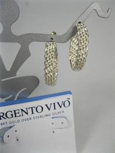 "Authentic ARGENTO VIVO Designer Sterling 925 Woven 1.25"" Hoop Earrings NWT - http://designerjewelrygalleria.com/argento-vivo/authentic-argento-vivo-designer-sterling-925-woven-1-25-hoop-earrings-nwt/"