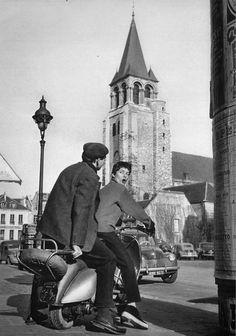 greeneyes55:  Saint-Germain-des-Prés Paris 1950s Photo: Patrice...