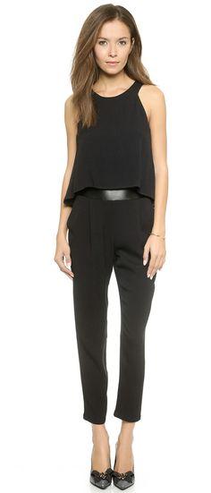 $258, Black Jumpsuit: Ella Moss Stella Jumpsuit. Sold by shopbop.com. Click for more info: https://lookastic.com/women/shop_items/300544/redirect