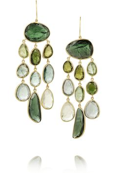 Pippa Small | 18-karat gold tourmaline earrings