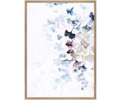 Pintura Digital Graphic Búho de San Valentín Amor Pájaro enmarcado impresión 12x16 pulgadas