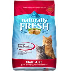 Blue Naturally Fresh Multi-Cat Clumping Cat Litter. Seriously holy grail of litter! Clumps harder than any clay litter I've ever tried, much less tracking, no heavy clay smell or dust, much lighter to carry, and way better odor control.