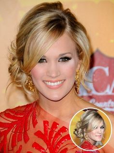 Carrie Underwood's updo would make the perfect bridal or bridesmaid hair