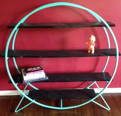 Custom Made Metal and Wood Shelving Unit by EmericksEmporium, $420.00