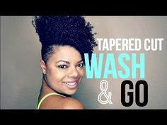 Tapered Cut | Wash N Go Type 4a/4b Hair [Video] - http://community.blackhairinformation.com/video-gallery/natural-hair-videos/tapered-cut-wash-n-go-type-4a4b-hair-video/