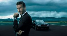 David Beckham is the face of Breitling for Bentley.  Bentley B06 More information on: http://www.breitlingforbentley.com/en/collection/bentley-b06/presentation/