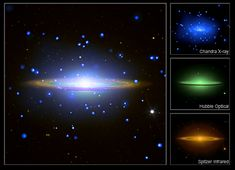 Chandra :: Sombrero Galaxy:  A Great Observatories View