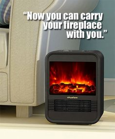 """Here are the Reasons Why People Buy the PuraFlame Clara Portable Electric Heater and How it Compares to Other """"Mini Fireplaces"""". Portable Electric Heaters, Portable Heater, Fireplace Heater, Faux Fireplace, Joanna Gaines, Best Camping Stove, Portable Fireplace, Diy Generator, New Stove"""