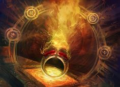 Ring of Valkas, card art from Magic: The Gathering.