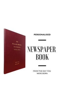 Personalised Gold Embossed Newspaper book from the day you were born Irish Independent Newspaper, Newspaper Front Pages, Book Binding, How To Memorize Things, Cards Against Humanity, In This Moment, Day, Books, Gold