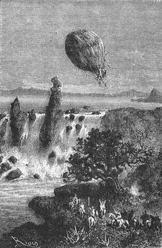 Jules Verne, Tv Series, Balloons, Novels, Fancy, Adventure, Painting, Art, Future