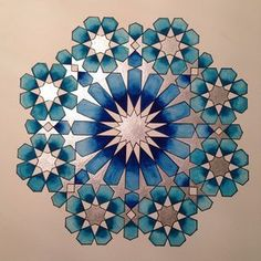 Islamic Art Pattern, Arabic Pattern, Geometry Pattern, Pattern Art, Geometric Drawing, Geometric Art, Motifs Islamiques, Motif Arabesque, Islamic Art Calligraphy