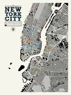 A Map Of Distinguished Places To Get Drunk In NYC | Co.Design | business + design