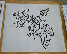 ROMERO DÍAZ, Nicolás  TP#2 Textura / Caligrafía gestual - Tipografía III Expresiva - FAD - UNCuyo