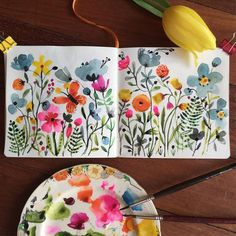 Carolyn Gavin's really pretty journal pages.