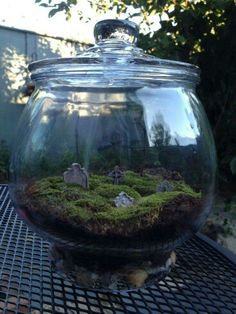 Fun with moss & Grave stones.