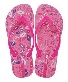 17b6343bb Pink Funky Lips Flip-Flops - Toddler   Girls