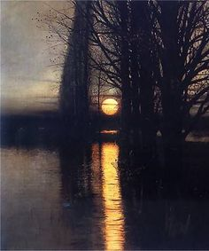 """"""" Stanisław Masłowski (1853-1926), Moonrise, 1884 """" """""""
