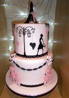 Pink Paris Poodle Cake