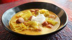 Frankfurti leves, a klasszikus téli kaja | Street Kitchen | Thai Red Curry, Soup Recipes, Waffles, Smoothie, Lunch, Meals, Breakfast, Ethnic Recipes, Food