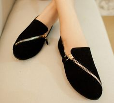 New 2014 Korean Women'S Casual Flat Shoes Rabbit/Zipper Designer Comfortable Shoes Women Office Shoes Spring Shoes D2375