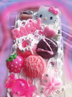 Yummy Kawaii Ice Cream Scoop Decoden iPhone 4/4S case by BityKity